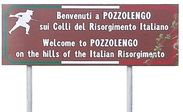 Historischer Willkommensgruß in Pozzolengo