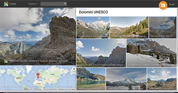 Google Street View erreicht die Dolomiten