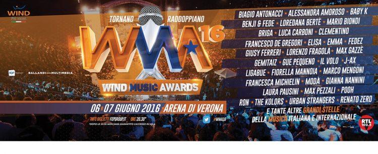 Italienische Musikszene feiert in der Arena  von Verona ihre Stars: Wind Music Awards