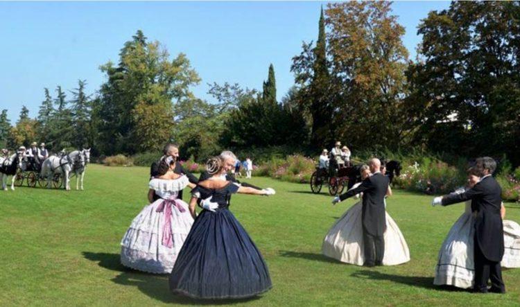 Im Parco Sigurtà wird zu einer Reise ins 19. Jahrhundert geladen