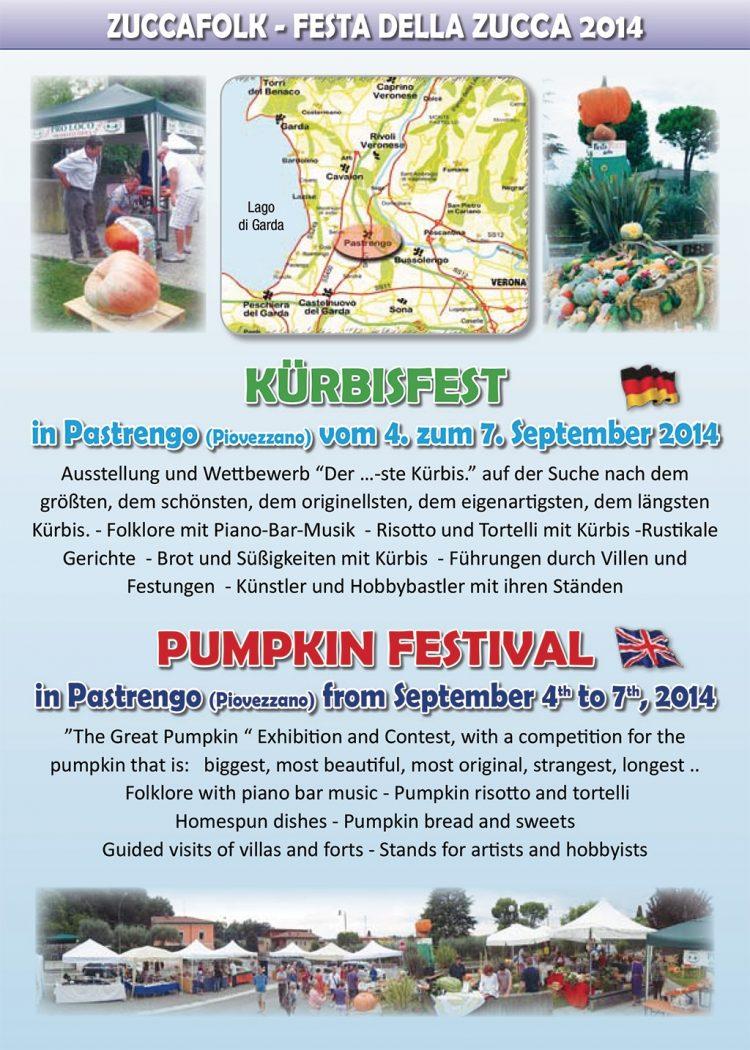 In Pastrengo dreht sich vom 4. bis  zum 7.  September alles um Kürbisse