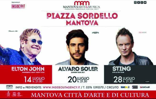 Juli in Mantua mit Elton John (14.) Alvaro Soler (20.) und Sting (28.)