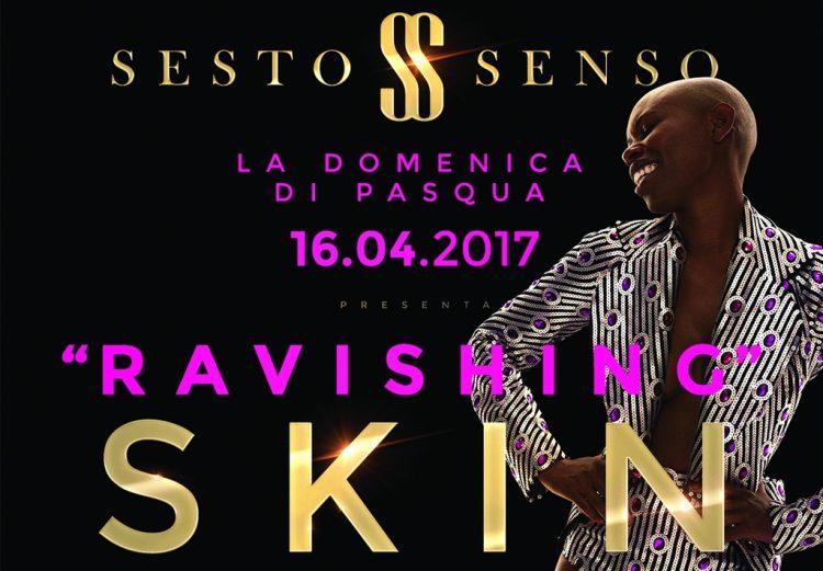 Am 16. April, Skin mit den Skunk Anansie in Desenzano