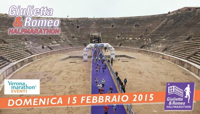 In Verona erwartet man Sportler im Februar zum Half Marathon