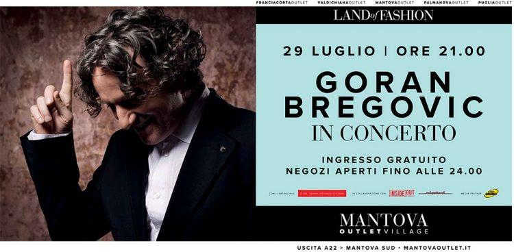 29. Juli: Kostenloses Bregovic-Konzert im Mantova Outlet Village