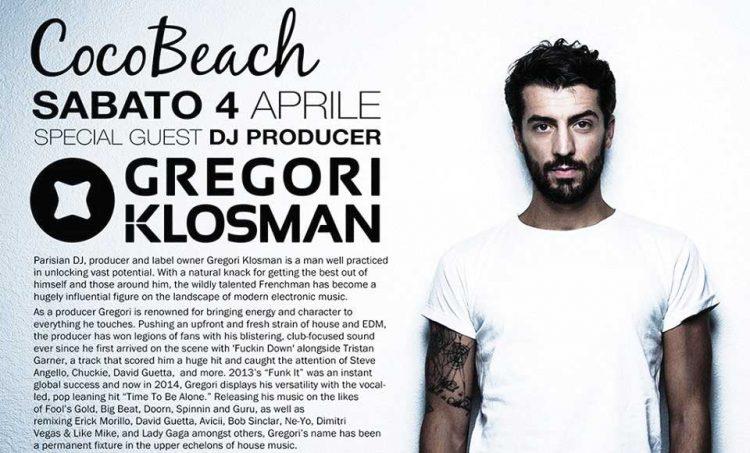 Gregori Klosman sorgt im Coco Beach für Stimmung