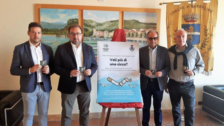 Bardolino sagt den Zigarettenkippen den Kampf an