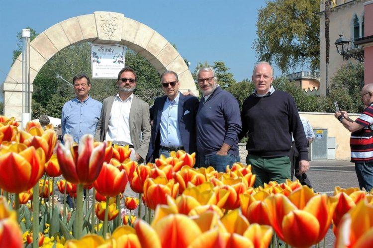 Tulpenblüte am Seeufer von Bardolino