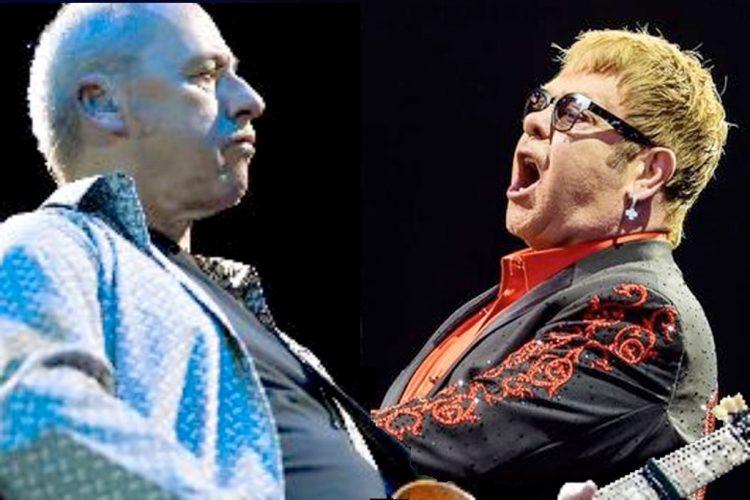 Mark Knopfler und Elton John 2019 in der Arena von Verona