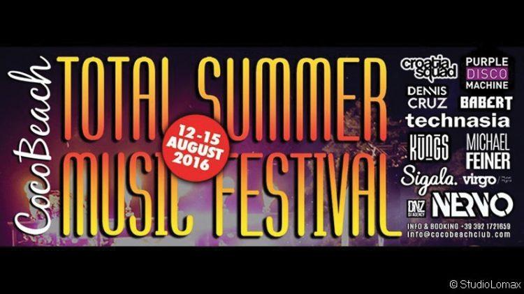 Im Coco Beach steigt das Total Summer Music Festival