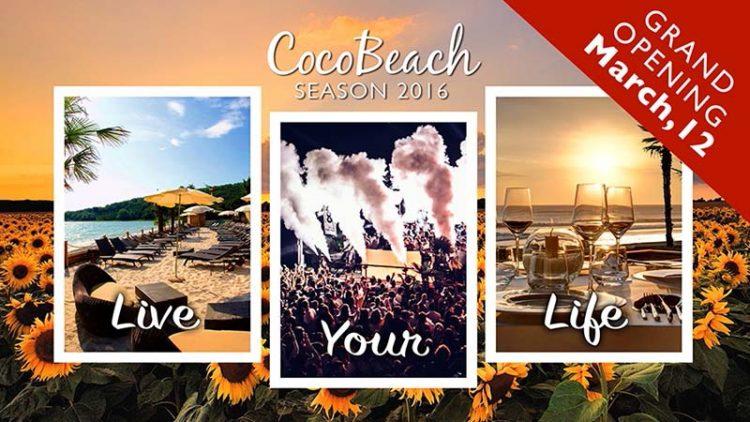 12. März: Saisonauftakt im Coco Beach Club
