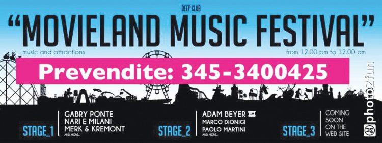 Movieland lädt am 6. Juli zum ersten Music Festival eines Kino-Themenparks