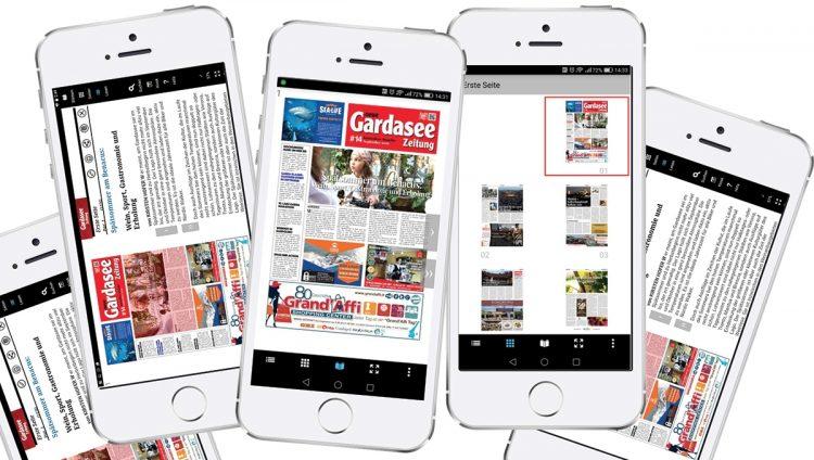 Auch die Gardasee Zeitung hat ihre App