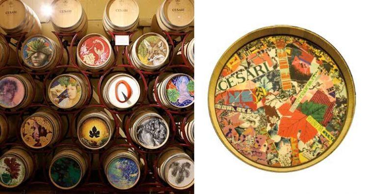 In der Cantina Cesari treffen Kunst und Wein aufeinander