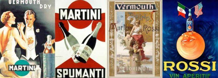 Die Werbeplakate von Martini im Mantova Outlet Village