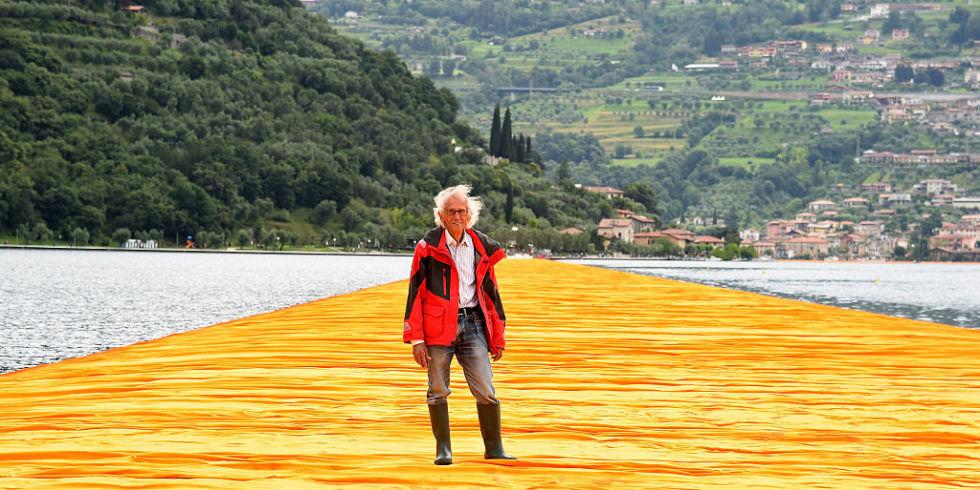 Der Künstler Christo starb, Autor von The Floating Piers auf dem Iseo-See im Jahr 2016