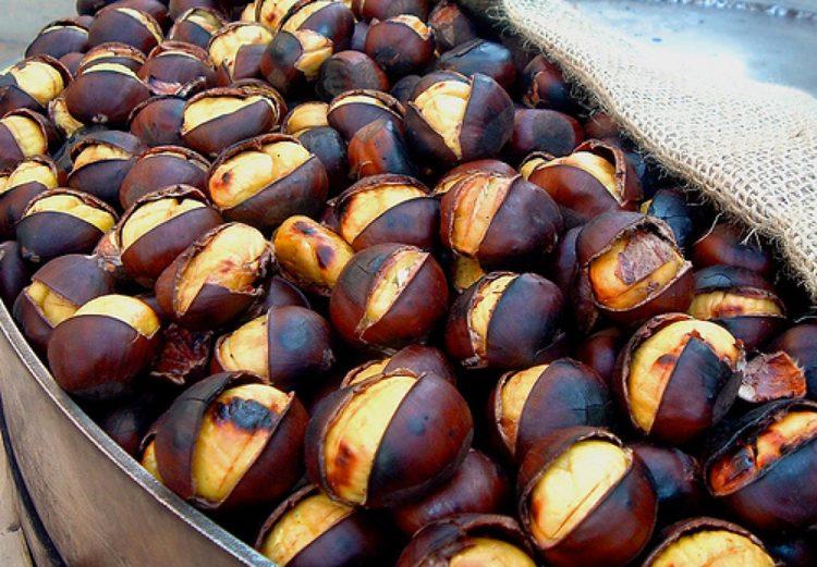 In San Zeno di Montagna werden die Marroni (Edelkastanien) gefeiert
