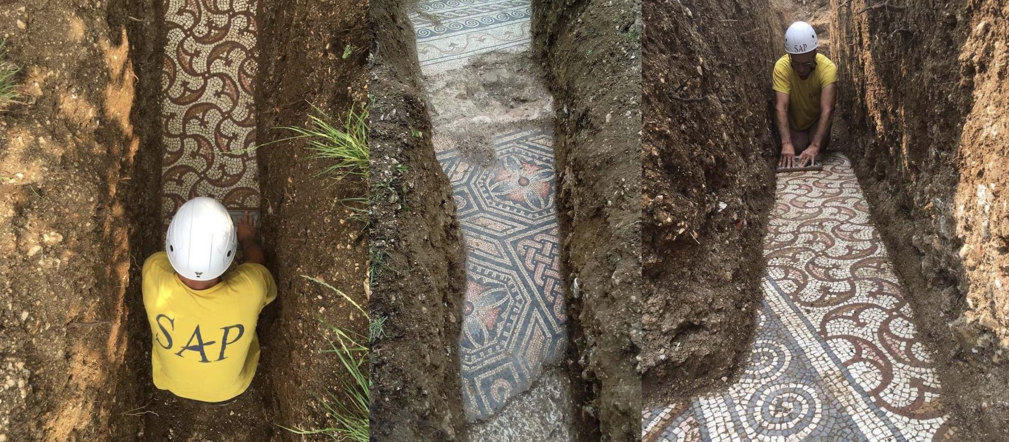 Negrar (Valpolicella): Das Mosaik unter dem Weinberg geht um die Welt