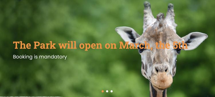 Der Parco Natura Viva wird am 5. März mit beiden Routen wieder eröffnet: Safari und Fauna
