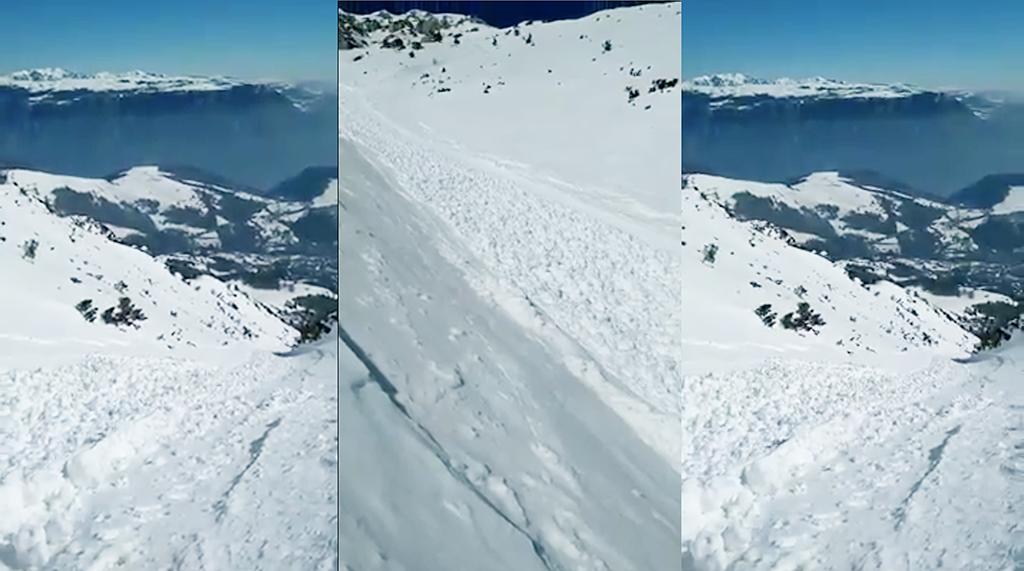 Das Video des Schneeflusses auf dem Monte Baldo ist viral gegangen