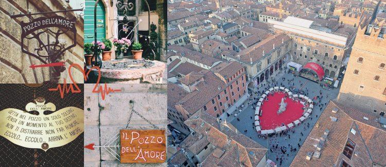 Alles Gute zum Valentinstag aus Verona, der Stadt der Liebe