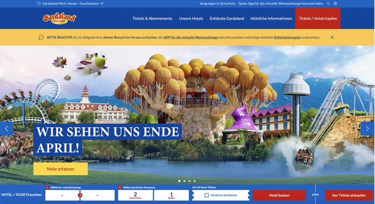 Die neue Website von Gardaland ist online