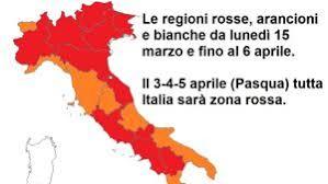 Norditalien in der roten Zone ab Montag, 15. März