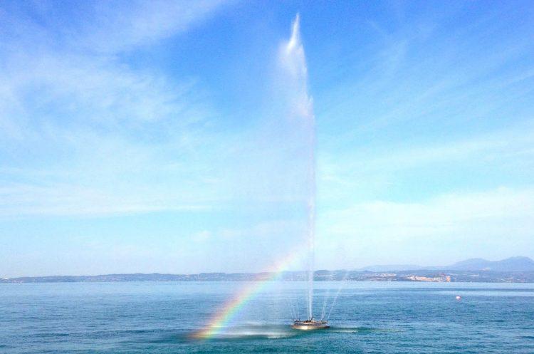 Bardolino: Der Fontana dei Marinai (Seemannsbrunnen) sprudelt wieder