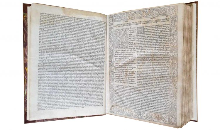 Eine Divina Commedia von 1493, fachmännisch restauriert in der Biblioteca Capitolare von Verona