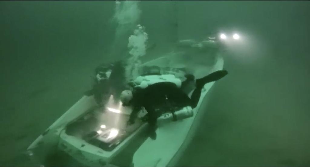 Motorboot, das im Gardasee gesunken ist, wurde geborgen