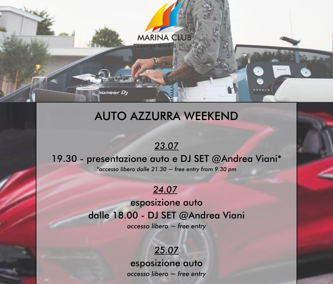 Amerikanische Autos in Porto di Moniga ausgestellt