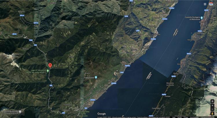 Die Provinzstraße Sp9 im Abschnitt zwischen Gargnano und Valvestino ist wieder geöffnet