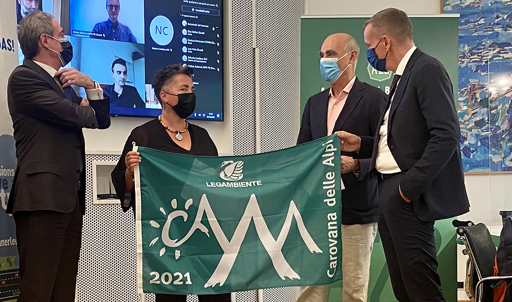 """Legambiente: """"grüne Flagge"""" für BrennerLec, das Projekt von A22 ausgezeichnet"""