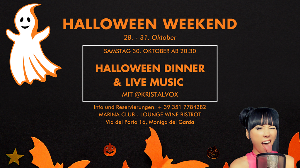 Moniga Porto: Halloween-Weekend im Marina Club – Lounge Wine Bistrot
